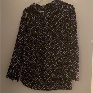 Beautiful black and white polka dot formal blouse